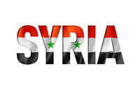 syrian flag text font