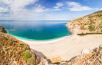 The beach Kallianos in Evia, Greece