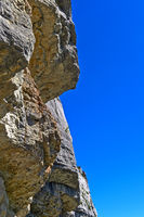 Felswand am Gipfel Mont Saleve, Collonges-sous-Saleve, Haute-Savoie, Frankreich
