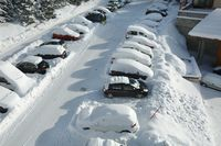 Winter parking cars