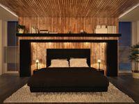 Schlafzimmer am  Abend