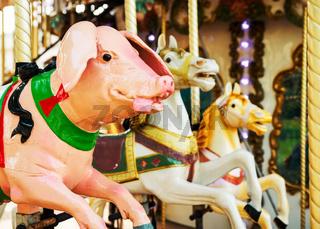 Vintage carousel pig