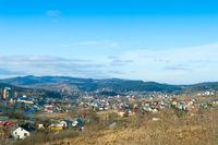Carpathians mountains village Skhidnytsya Ukraine