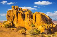 The granite  in the Desert Namib