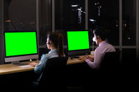 Call centre working at night