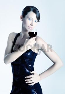 Drinking wine