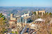 San Marino city from above