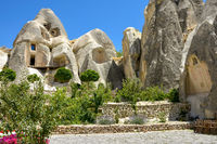 Houses built on rock formations
