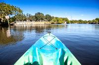 Gliding Kayak along the Orange River in Fort Myers