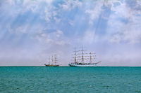Sailing Ship in the Sea