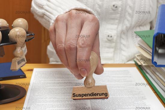 Stempel Suspendierung| stamp suspension