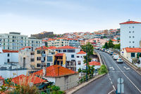 Cityscape, road, cars, Funchal, Madeira