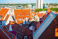 Tallinn oldtown red roofs, Estonia