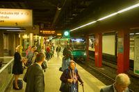 People subway metro station Frankfurt