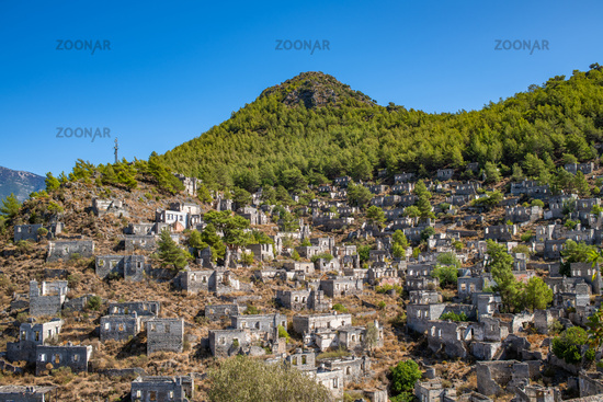Abandoned village of Kayakoy, ghost town near Fethiye, Turkey