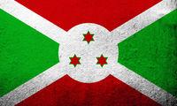The Republic of Burundi National flag. Grunge Background