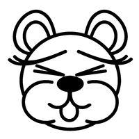 Lustiger Bär - Augen zu, Zunge raus