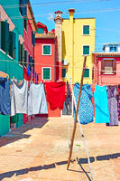 Washing drying outdoors in Venice
