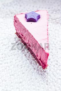 Raw berry vegan cheesecake, dessert and diet