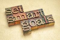 set SMART goals in wood type