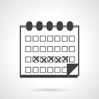 Menses calendar black vector icon