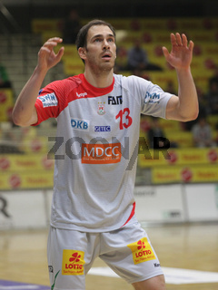 slowenischer Handballspieler Jure Natek SC Magdeburg -DHB Handballbundesliga Saison 2014/15
