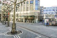 Zeil Promenade Frankfurt with Closed Stores During Quarantine