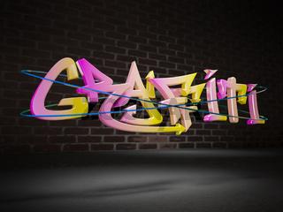ThreeD graffiti