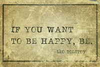 be happy Tolstoy