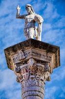 vicenza, italy - 03/19/2019 - il redentore on the piazza dei signori