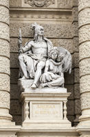 Statues of the Natural History Museum in Vienna