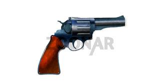 Watercolor revolver