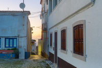 street building dusk Nazare Portugal
