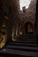 Ajloun Castle in north-western Jordan. Arab and crusaders fort.