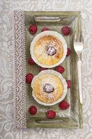 Zwei Käsekuchen Muffins
