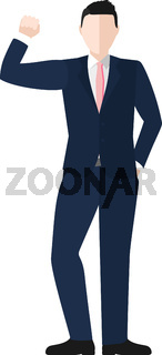 Businessman Cheering Vector