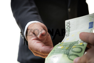 Businessman receives bill