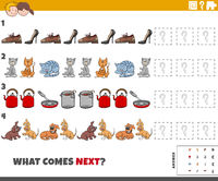 educational pattern game for kids with objects and pets