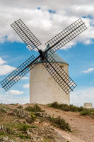 View of windmills in Consuegra, Spain