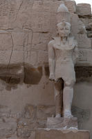 Statue im Tempel von Karnak