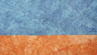 orange and blue abstract paper landscape