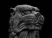 Fantasy Animal Sculpture Head Creepy Poster