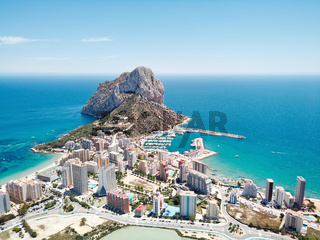 Aerial photography Penyal d'Ifac Natural Park. Calpe, Spain
