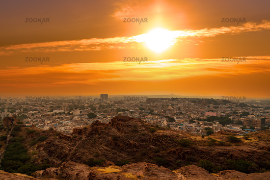 Jodhpur ( Also blue city) is the second-largest city in the Indian state of Rajasthan and officially the second metropolitan city of the state.