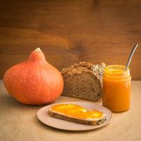 Pumpkin jam in a jar