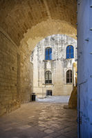 At the castle of Charles V. Lecce. Puglia. Italy.