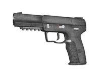 automatische Pistole mit Magazin