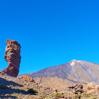 Teide volcano and Cinchado rock in Tenerife