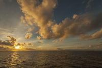 Abend auf dem Atlantik