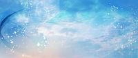 netzwerk linien punkte himmel banner